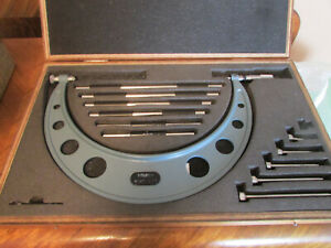 Mitutoyo 104 138 6 12 Outside Micrometer Interchangeable Anvil And Standards