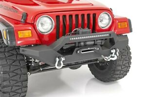 Rough Country Jeep Full Width Front Led Winch Bumper 87 06 Wrangler Yj tj