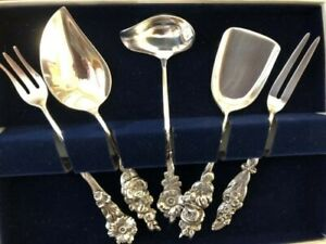Reed And Barton Sterling Silver Five Piece Serving Set Vintage