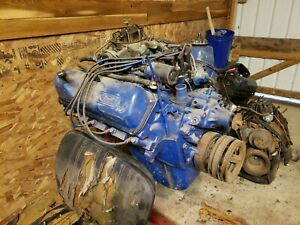 Ford 351 Cleveland 4v 4 Bolt Main Rebuilt From Aquired Collection No Specs