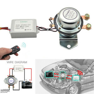 12v 180a Car Remote Control Battery Switch Disconnect Master Kill Silver Contact