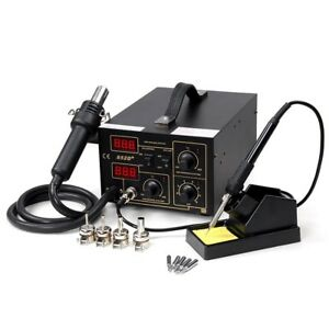 852d Digital Hot Air Rework Solder Smt Soldering Station Unit 110v ac Ce Approv