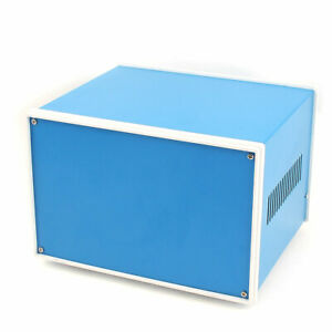 208mm X 182mm X 135mm Metal Electronic Project Junction Box Enclosure Case Blue