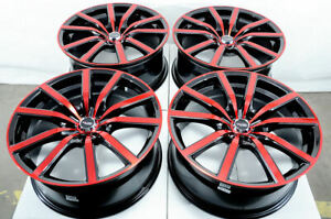 18 Wheels Honda Civic Accord Cr v Lexus Es300 Is200t Red Black 5x114 3 Rims