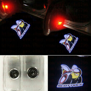 2x Car Led Logo Door Courtesy Projector Puddle Light For Dodge Charger Scat Pack