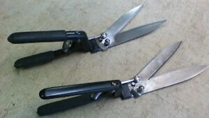 2 Vintage Craftsman And Wallace Grass Clippers Shears Old Tool Stainless Blades
