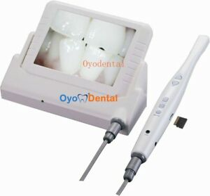 Dental Wired Cmos Intraoral Oral Camera 8 Inch Lcd Monitor Screen With Sd Card
