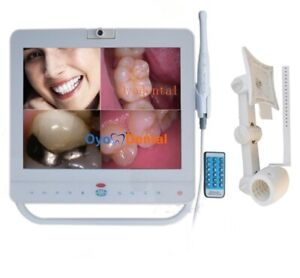 15 Inch Wired Dental Monitor Intra Oral Camera System With Lcd Screen Holder Ce