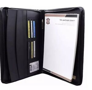 Lowenherz Zipper Organizer Leather Business Portfolio Professional Rfid Binder