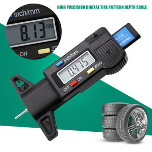 Truck Tool Gauge Tire Caliper Tread Depth Accurate Car Digital Lcd Display Us