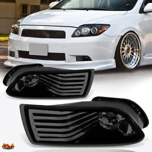 For 05 10 Scion Tc Smoked Lens Front Bumper Driving Fog Light lamp switch Pair