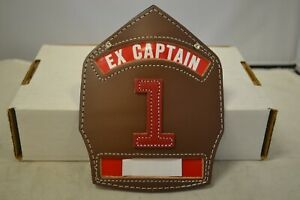 Cairns Ex captain Brown Leather Helmet Fronts W Red 1