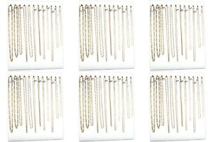Six 12 Hook White Chain Necklace Display Easels 12 X 15