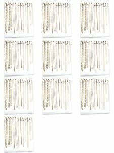 Ten 12 Hook White Chain Necklace Display Easels 12 X 15