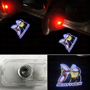 2x Scat Pack Logo Led Door Laser Projector Puddle Lamp For Dodge Charger 2011 19
