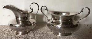 Vintage Towle Sterling Silver Cream And Sugar Mono Ds