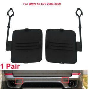 Left Right Rear Bumper Tow Hook Cover Cap Fit For Bmw X5 E70 2006 2009 2007 2008