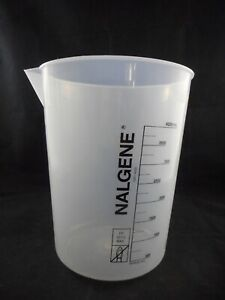 Nalgene Plastic 4000ml 4l Griffin Low form Beaker With Printed Graduations Pp