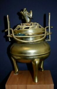 Brass Or Bronze Footed Chinese Incense Burner