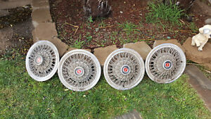 Vintage Ford Mustang Hubcaps 1973 74 76 77 set Of 4 15