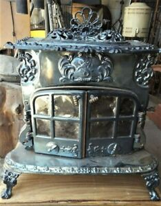 Antique Heater Wood Burning Stove By Smith And Wellstood Ltd Scotland