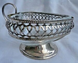 Candy Dish Silver Plated Heart Shaped Handle 1920 S Raimond England
