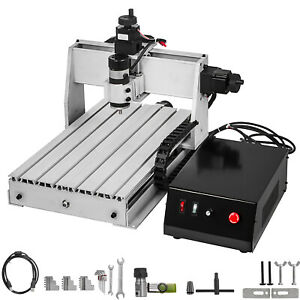 3 Axis Cnc 3040 Engraving Milling Machine Chrome Plate Shaft Carving Us Stock
