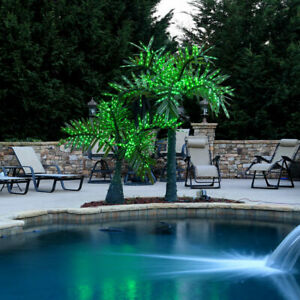 Realistic Palm Tree Commercial LED Lighted Outdoor Pool Yard Decoration 12 FT $2,600.00