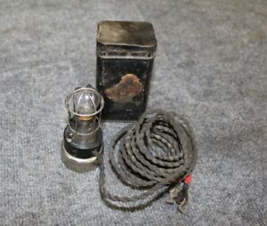 Vintage Auto truck Accessory Magnetic Trouble Light With Tin Box Works Great