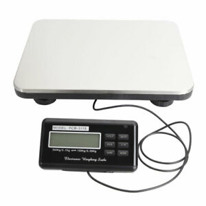 300kg 100g Digital Postal Scale With A Large Square Stainless Weighting Pan