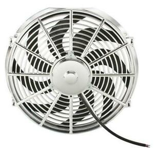Fan Chrome Electric 16 Inch Reversible Radiator Cooling S Shaped Curved Blade