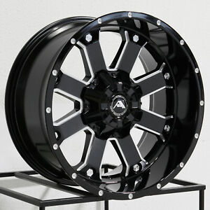 20x10 American Off Road A108 8x170 24 Black Milled Wheels Rims Set 4