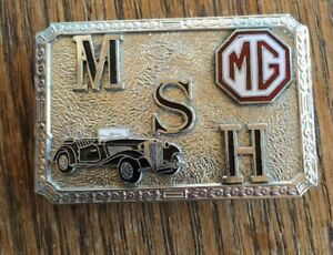 Vintage Mg Belt Buckle Hook Fast Enamel 1950s Antique