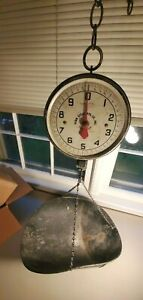 Vintage Penn Penn Mfg Co Hanging 20 Lbs Mercantile Scale Scoop Pan Philadelphia