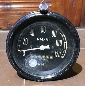 Vintage Ussr Speedometer From The Cargo Military Vehicle New Made In Ussr 120 Km