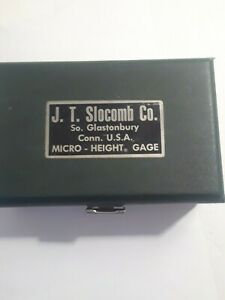 J t Slocomb Co Micro Height Gage Tool Set