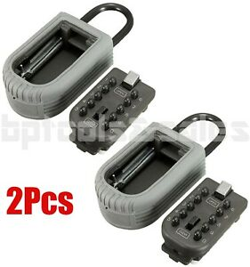 2 Combination Lock Storage Case Sparekeys Box Wall Mount Push Button Key Holdr