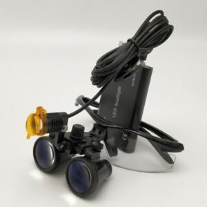 Dental 3w Led Head Light With Filter 3 5x Binocular Loupes Magnifier Medical