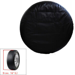 31 Pu Leather Car Spare Tire Tyre Wheel Cover For Jeep Liberty Wrangler Blk Ue