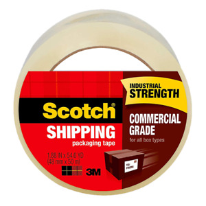 Scotch Commercial Grade Shipping Packaging Tape 3750 1 88 X 54 6 Yd 48mm X 50m