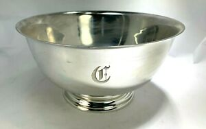 Vintage Paul Revere Gorham X Large Heavy Sterling Silver Center Piece Bowl
