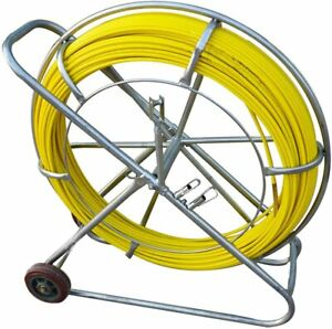 12mm 120m Fish Tape Fiberglass Wire Cable Running Rod Duct Rodder