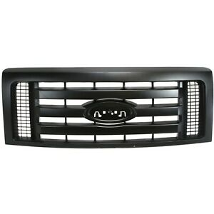Grille For 2009 2012 Ford F 150 Textured Gray Plastic