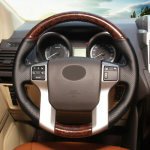 Black Wood Color Leather Steering Wheel Cover For Toyota 4runner 2010 2019