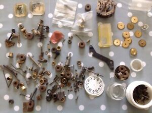 Vintage Clock Parts Cogs Wheels Escapes From Clockmakers Collection