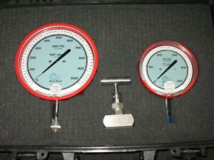 3d Accu drive Pressure Test Gauge Natural Lp Gas 0 1000 0 500 Pipe Line Whitney