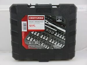 Craftsman 34845 Hex Torx Socket Wrench Set Sae Metric Sizes 42pc Set New