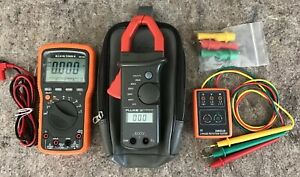 Klein Mm1000 Cat Iv Digital Multimeter Fluke 30 Amp Clamp 3 Phase Rotation Mtr