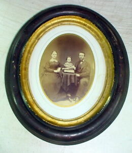 Antq Oval Picture Frame Of Wood W Glass Vtg For 8x10 Art Or Mat Wyalusing Pa