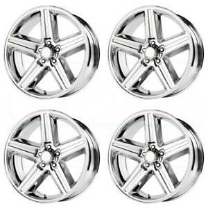 20x8 Replica V1129 Iroc 5x120 65 0 Chrome Wheels Rims Set 4